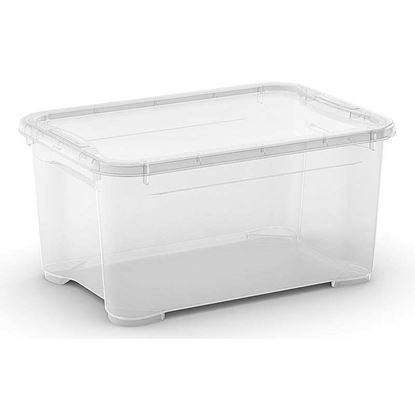 Immagine di Contenitore con coperchio, T Box,  trasparente, 38x26,5x19 cm