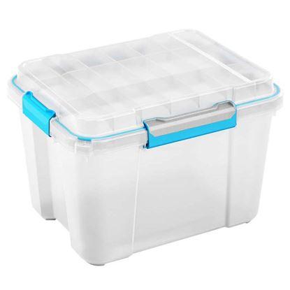 Immagine di Contenitore Scuba box, ermetico, trasparente, 49,5x39xh34 cm