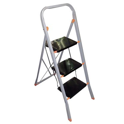 Immagine di Sgabello acciaio Tinto, montanti 20x15 mm, gradini 200x300 mm, 3 gradini, 1,15 mt