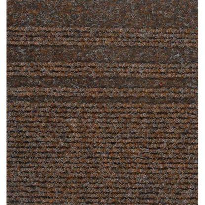 Immagine di Passatoia Genova, agugliato verticale con bande laterali, in polipropilene, spessore 7 mm, h 67 cm, colore bruciato