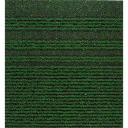 Immagine di Passatoia Genova, agugliato verticale con bande laterali, in polipropilene, spessore 7 mm, h 67 cm, colore verde