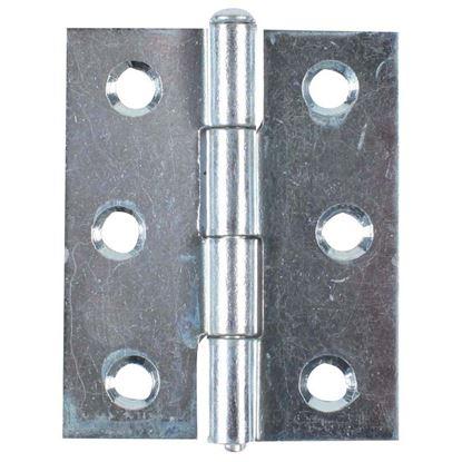 Immagine di 2 Cerniere spina estraibile, zincata, 2 pezzi, 70x50 mm