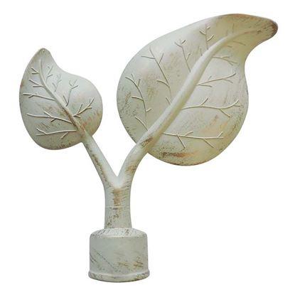 Immagine di Terminale Calla, Easy Basico, Ø 20 mm, 2 pezzi, colore avorio/oro
