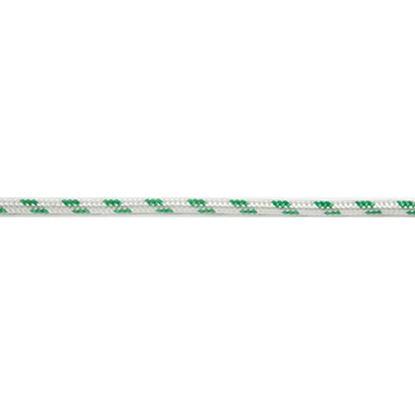 Immagine di Treccia multiuso in poliestere, colore bianco e verde, 16 mm