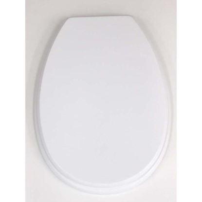 Immagine di Sedile WC Piemontesina, in MDF, colore bianco