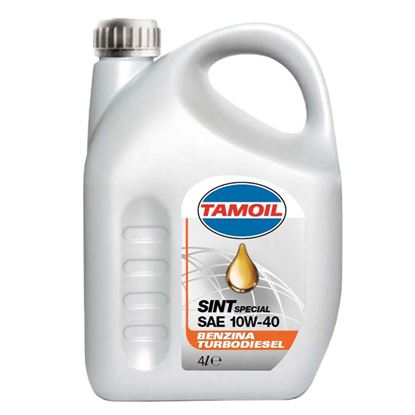 Immagine di Olio Tamoil, Sint, SAE 10W-40, lubrificante semisintetico, per motori a benzina e turbodiesel, 4 lt