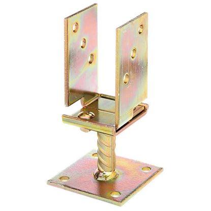 Immagine di Staffa portapalo, ad U, larghezza regolabile da 71 a 131 mm da avvitare, zincata