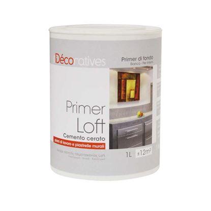 Immagine di Fondo Primer Loft beton, per piani di lavoro e piastrelle murali, resa 10 m², colore bianco, 1 lt