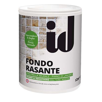 Immagine di Fondo rasante Primaire & lissage, pittura bianca densa che si applica su piastrelle murali e piani di lavoro, 1 lt
