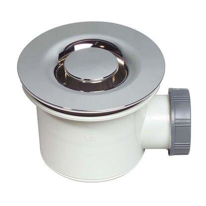 Immagine di Piletta doccia Wirquin, PVC, ispezionabile, griglia ABS, cromato, Ø90 mm
