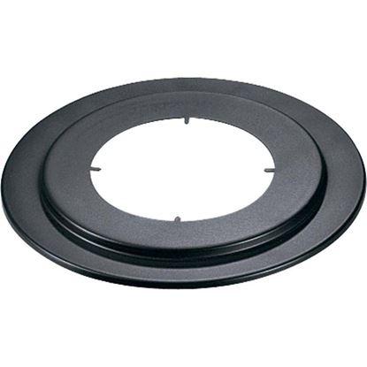 Immagine di Rosone, per stufa a legna, Ø 130 mm, colore nero