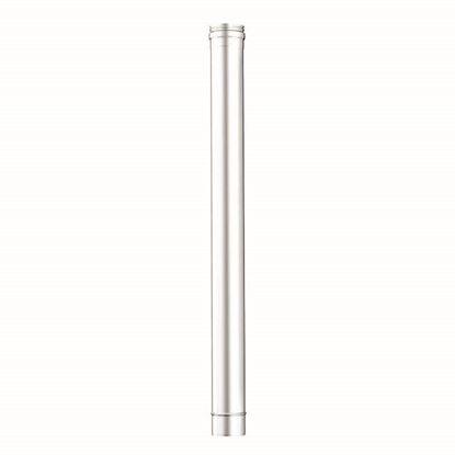 Immagine di Tubo acciaio inox AISI 316L, monoparete, Ø 100 mm, 100 cm