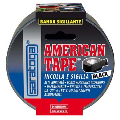 Immagine di Banda sigillante Saratoga, ad alta adesività, mm 50x25 mt, colore nero