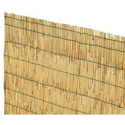 Immagine di Arella cina in canna di bamboo pelato d.4-5mm legate con filo plastica 25x4 mt