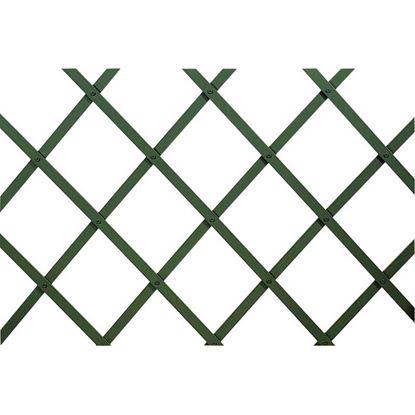 Immagine di Traliccio in plastica, estensibile, colore verde,160x200, listello 22x6 mm