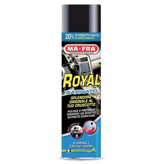 Immagine di Lucida cruscotto Ma-Fra, Royal, pulisce e igienizza il cruscotto, antistatico, spray 600 ml, effetto satinato