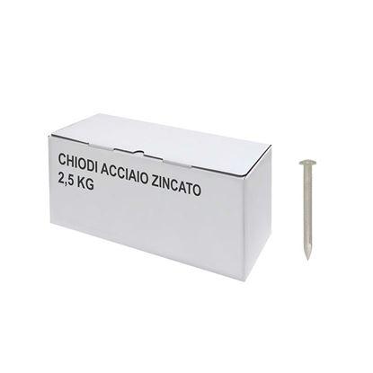 Immagine di Chiodi acciaio zincato, 2,5 kg, 3,7x60 mm