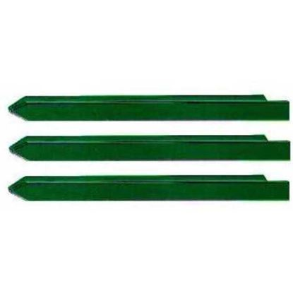 Immagine di Paletto plasticato verde, 30x30x3,0xh1750 mm