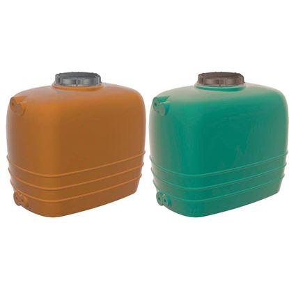 Immagine di Linea Aquarius cisterna orizzontale, color terracotta, da 1000 lt