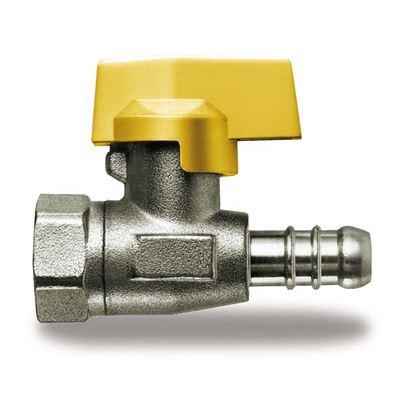 """Immagine di Rubinetto gas, IVR, diritto, con portagomma, F 1/2""""x13 mm, METANO"""