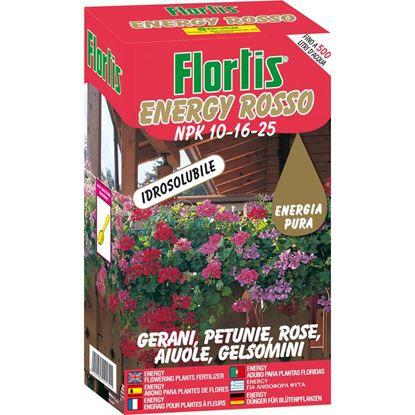 Immagine di Concime Energy, rosso, polvere idrosolubile, per piante fiorite, per tutte le piante da fiore annuali e perenni, 1 kg