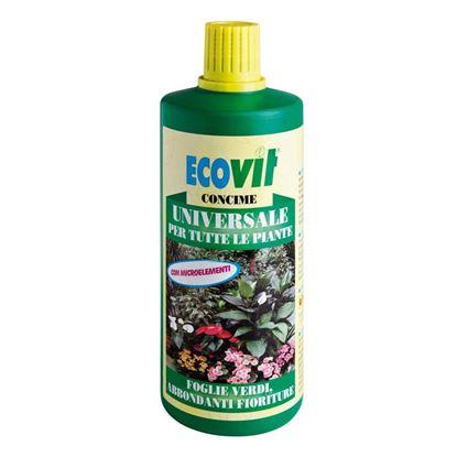 Immagine di Concime Ecovit, liquido, universale, per tutte le piante verdi e da fiore, 1 kg