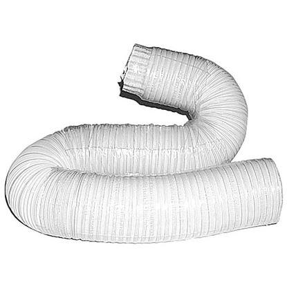 Immagine di Tubo alluminio compresso, colore bianco, 1x3 mt, Ø 120 mm