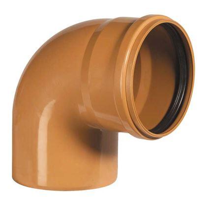 Immagine di Curva 90° PVC, per fognature e scarichi interrati, SN 4, EN 1401, Ø200 mm, spessore 4,9 mm