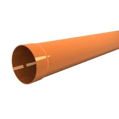 Immagine di Tubo in PVC, per scarichi civili ed industriali F/N, colore arancio, Ø mm 63x1 mt