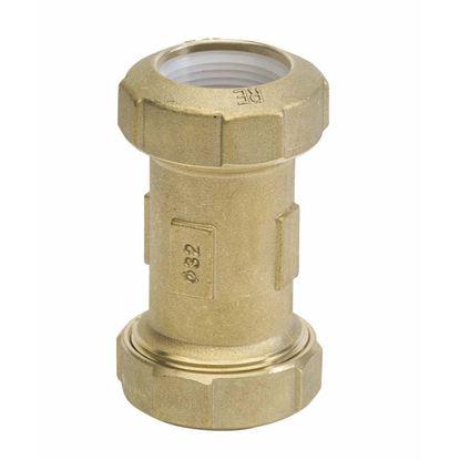 Immagine di Manicotto ottone, per polietilene, F Ø 32x32 mm