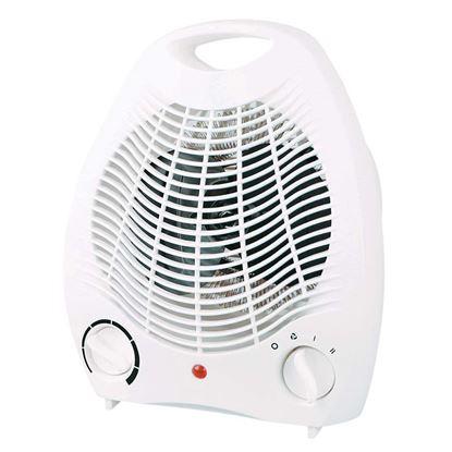 Immagine di Termoventilatore 2000 W, 2 regolaz.potenza, termostato ambiente regolabile, controllo autom.temperatura, 19x11xh27 cm
