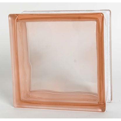 Immagine di Vetromattone rosa 190x190x80mm
