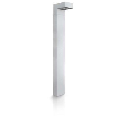 Immagine di Palo con luce a led, Gaudino, corpo in alluminio, IP54, 150x92xh800 mm, 450 lumen, 5,5 W, 3000 K, colore grigio argento