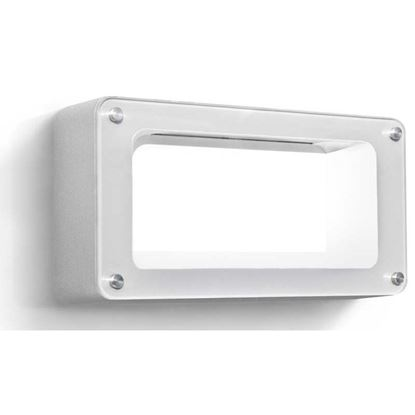 Immagine di Applique a led, Paladino, corpo in alluminio, IP54, 242x60xh122 mm, 450 lumen, 6 W, 3000 K, colore grigio argento
