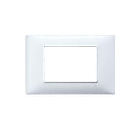 Immagine di Placca 7 moduli, Plana, colore alluminio spazzolato