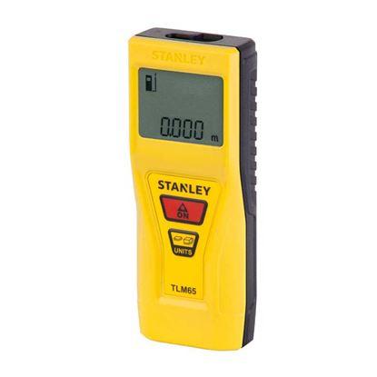 Immagine di Misuratore laser Stanley, TLM 65, misurazione massima 20 mt, pulsante multifunzione: distanza, area, volume,