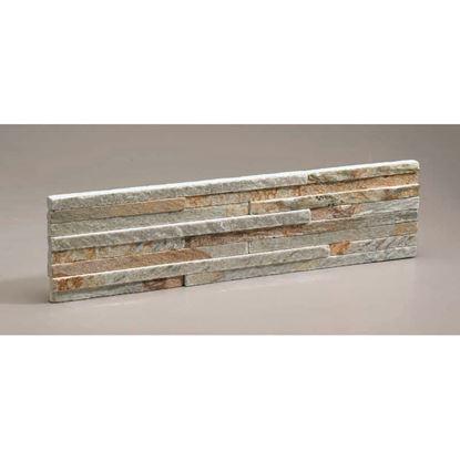 Immagine di Rivestimento in quarzite naturale toronto, 40x10 cm, spessore 1-1,5 mm, confezione da 0,4 m²