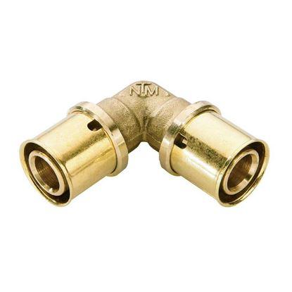 Immagine di Raccordo a pressare fit, gomito doppio, Ø16x16, gas