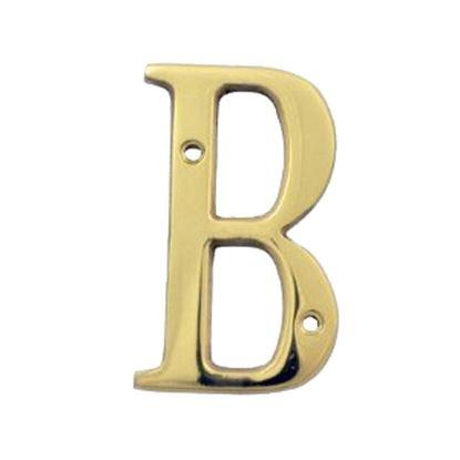 Immagine di Lettera civica, in ottone lucido, H 7,62 cm, B