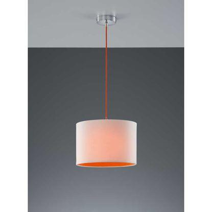 Immagine di Sospensione paralume, cilindro, 32 cm, E27, 60 W, colore bianco