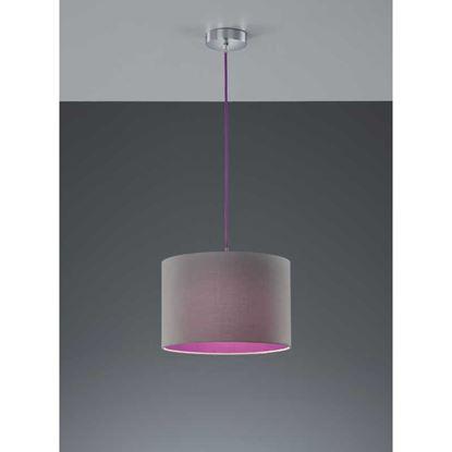 Immagine di Sospensione paralume, cilindro, 32 cm, E27, 60 W, colore grigio