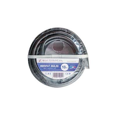Immagine di Matassa cavo H05VV-F 3G2,50 mmq, 10 mt, colore nero
