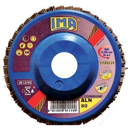 Immagine di Disco lamellare abrasivo per metallo, coridone, Ø115 mm, grana 80