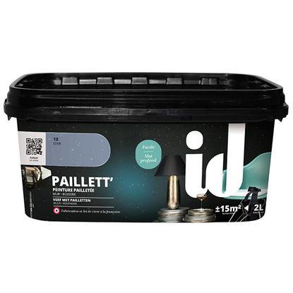 Immagine di Pittura decorativa Paillett star, effetto paillettes, pronta all'uso, applicazione a rullo, 2 lt