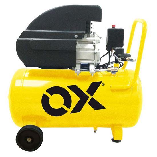Immagine di Compressore lubrificato, serbatoio 50 lt, potenza 2 Hp-1500 W, manometro,reg di pressione, rubinetto attac rapido