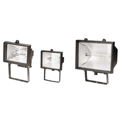 Immagine di Proiettore con staffa, corpo in alluminio, lampada alogena, colore nero, 500 W