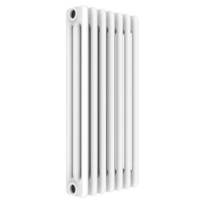 Immagine di Radiatore acciaio Warm Basic tubolare, interasse 623 mm 3 colonne di profondità 7 elementi, 488 W, colore bianco ral 9010