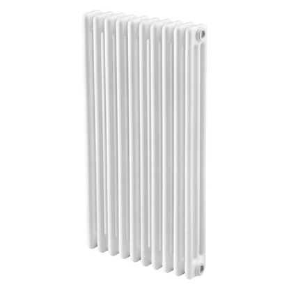 Immagine di Radiatore acciaio Warm Basic tubolare, interasse 813 mm 3 colonne di profondità 7 elementi, 608 W, colore bianco ral 9010