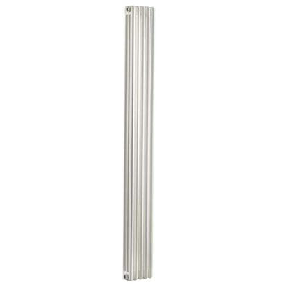 Immagine di Radiatore acciaio Warm Plus tubolare, interasse 1935 mm 3 colonne di profondità 4 elementi, 740 W, colore bianco ral 9010