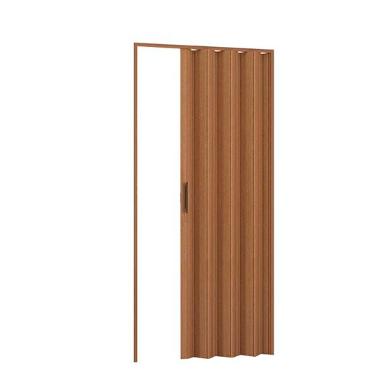 Porta a soffietto, 83xh210 cm, colore Ciliegio Finto Legno